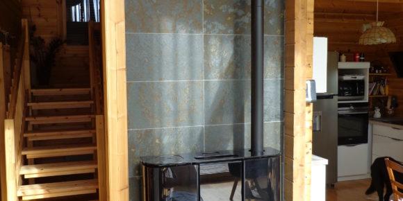 Installation d'un poêle à granulés dans le 65